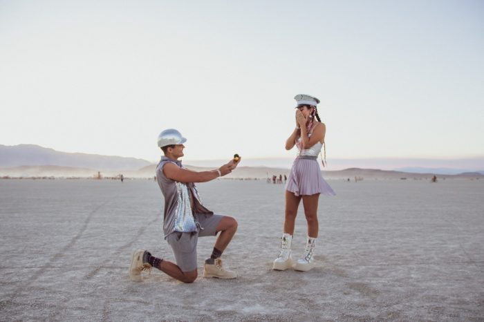 Wedding Proposal Ideas in Burning Man