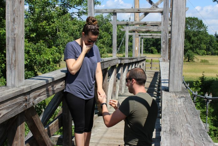 Engagement Proposal Ideas in Vernon Boardwalk in Vernon, NY