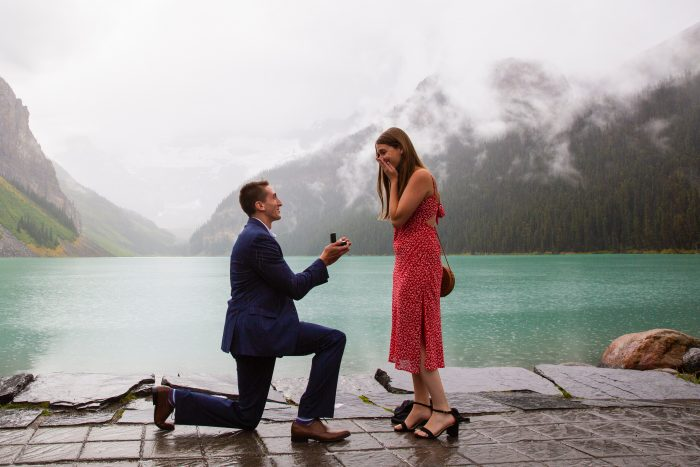 Brooke and Jordan's Engagement in Banff Lake Louise