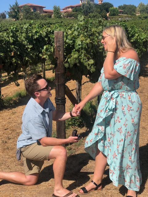 Wedding Proposal Ideas in Wise Villa Winery in Lincoln California