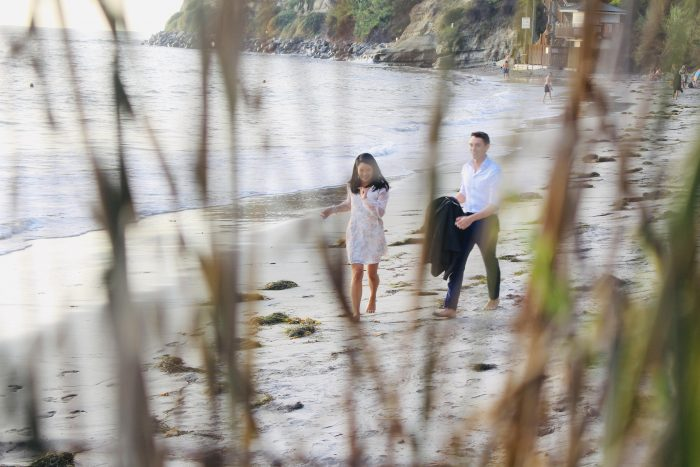 Ivy and Alexander's Engagement in Swami's Beach in beautiful Encinitas, CA