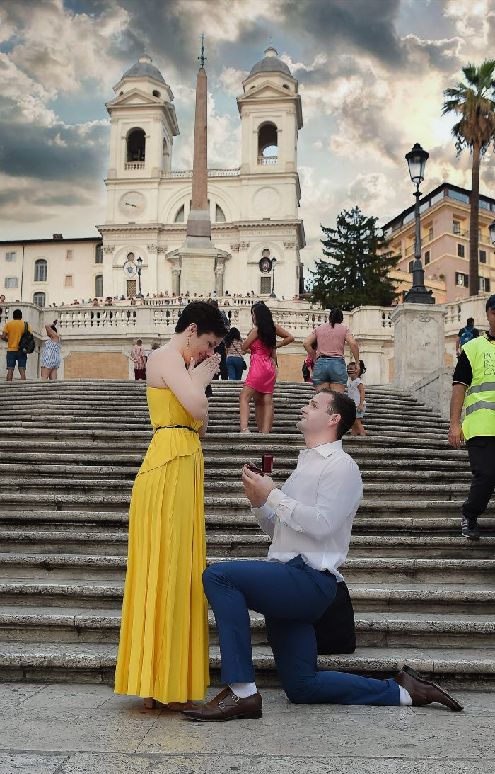 Where to Propose in Spanish Steps - Rome, Italy