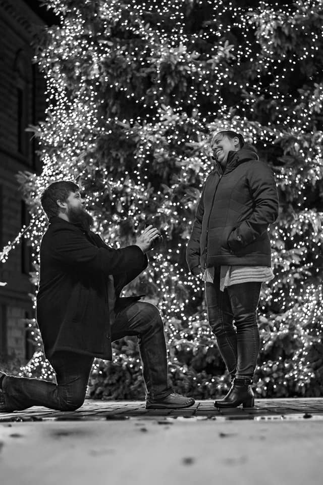 Where to Propose in In front of our cities huge Christmas tree