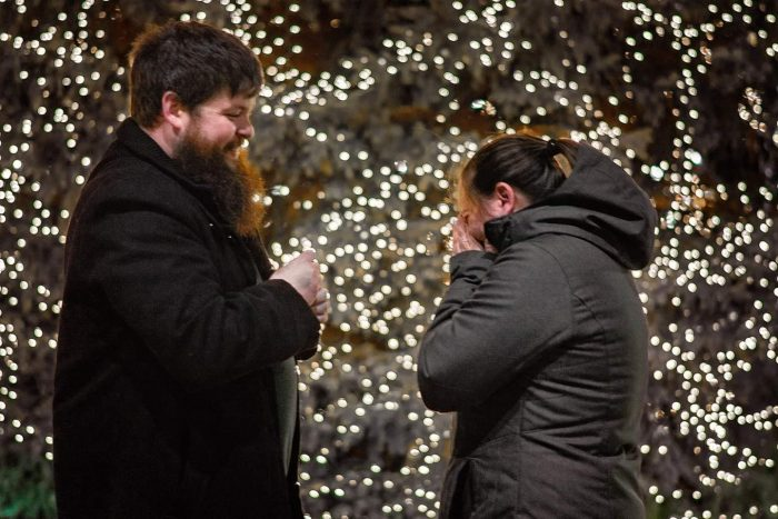 Wedding Proposal Ideas in In front of our cities huge Christmas tree