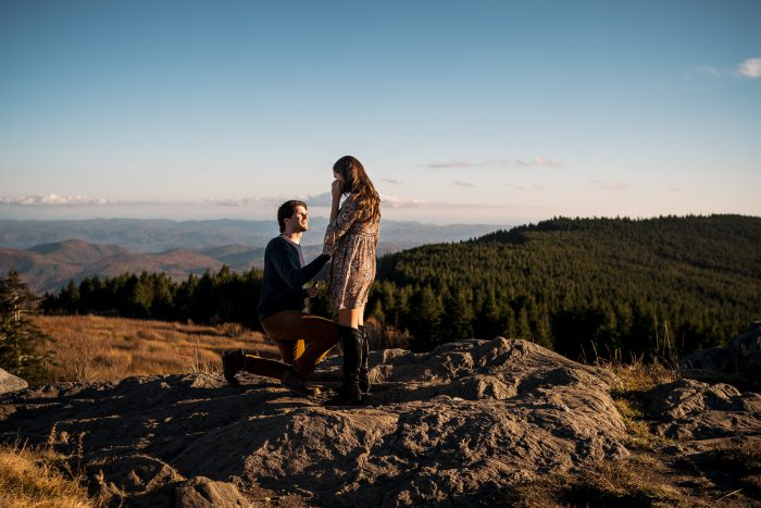 Wedding Proposal Ideas in Black Balsam Knob - Blue Ridge Parkway, NC