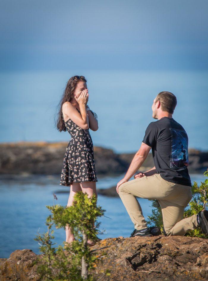 Marriage Proposal Ideas in Presque Isle Park, Upper Peninsula of Michigan