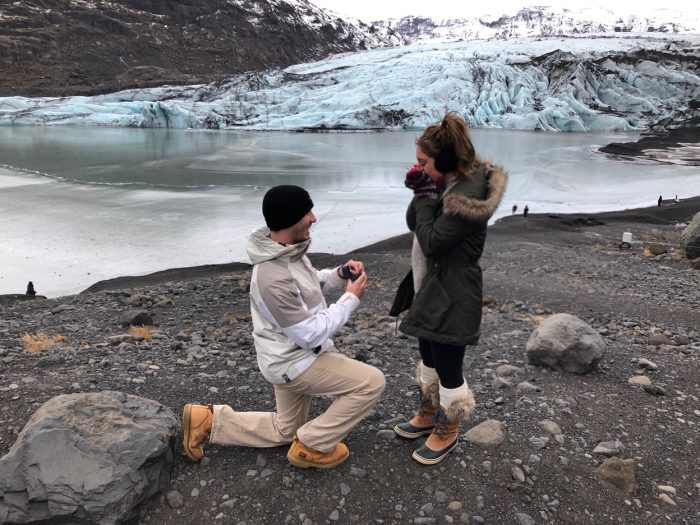 Briana and Matthew's Engagement in Glaciers in Iceland