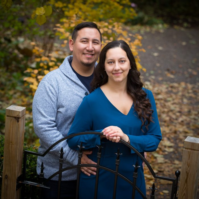 Jessica and Jon's Engagement in The Arboretum at Penn State