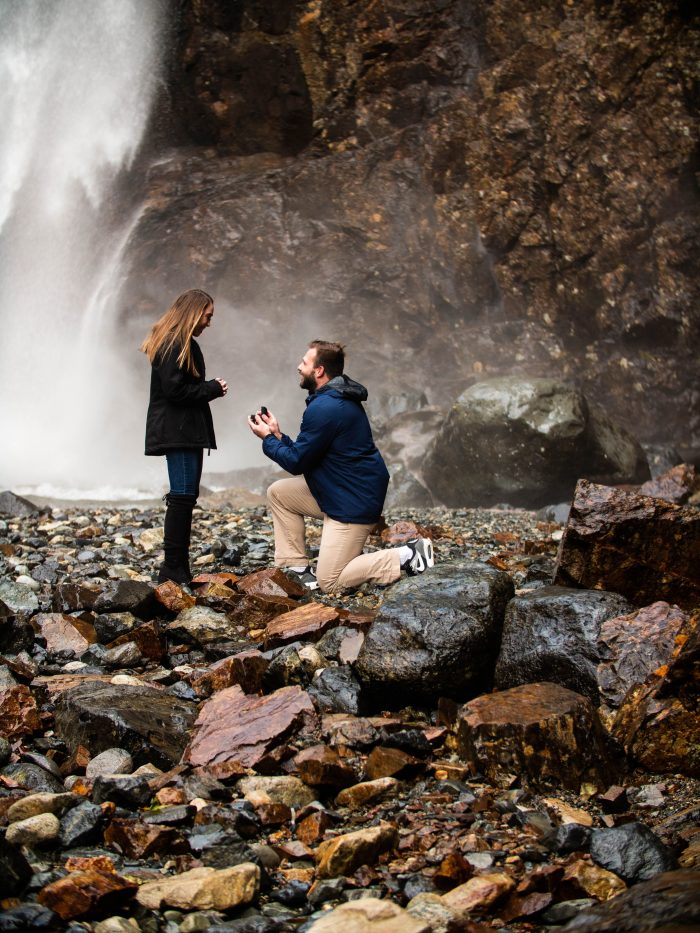 Sophia and Adam's Engagement in Franklin Falls, North Bend, WA