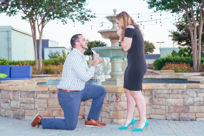 Abigayle and Jake's Engagement in City View Rooftop