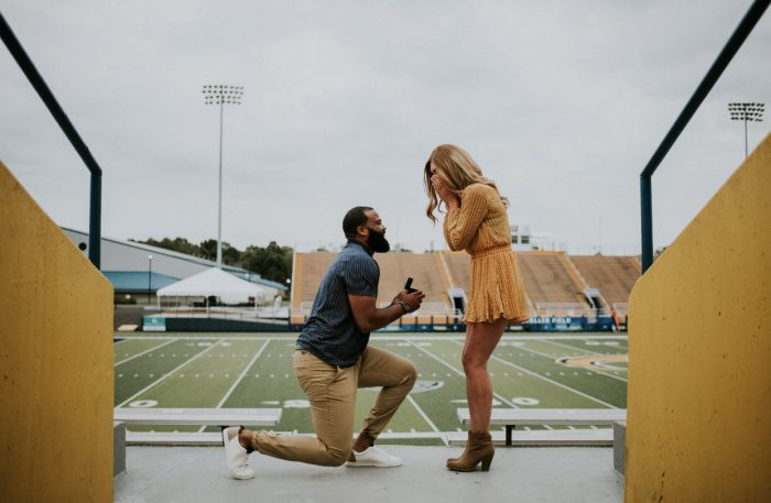 Marriage Proposal Ideas in Dix Stadium at Kent State University