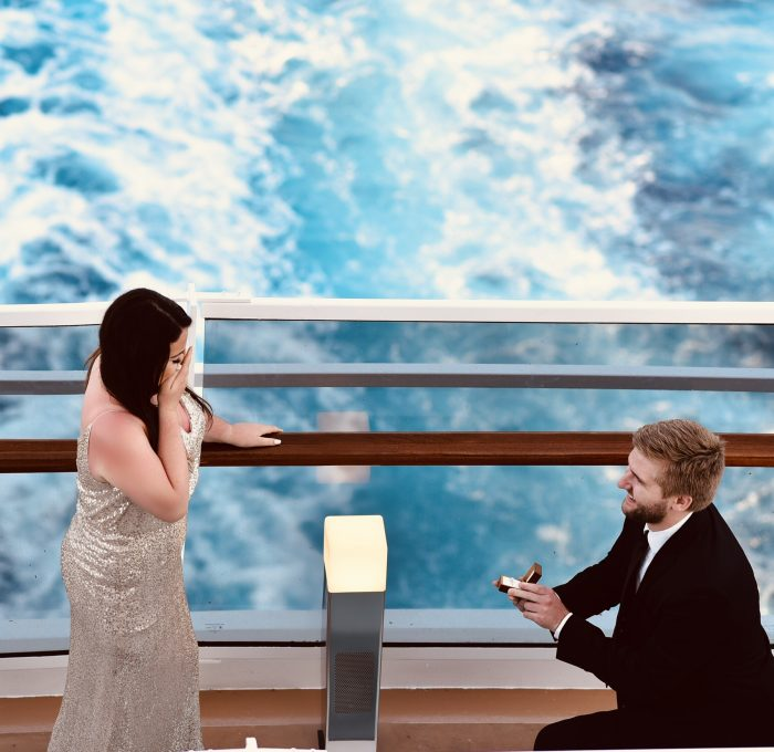 Engagement Proposal Ideas in Middle of the ocean in the Bahamas on a cruise!