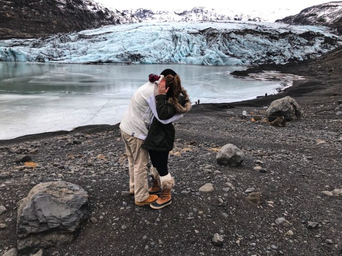 Briana's Proposal in Glaciers in Iceland