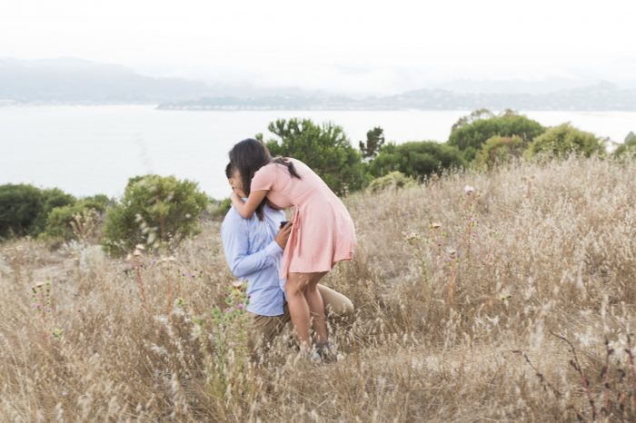 Audrey and Vincent's Engagement in Hippie Tree in Belvedere-Tiberon, California