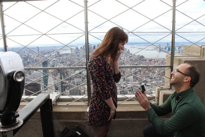 Engagement Proposal Ideas in Empire State Building