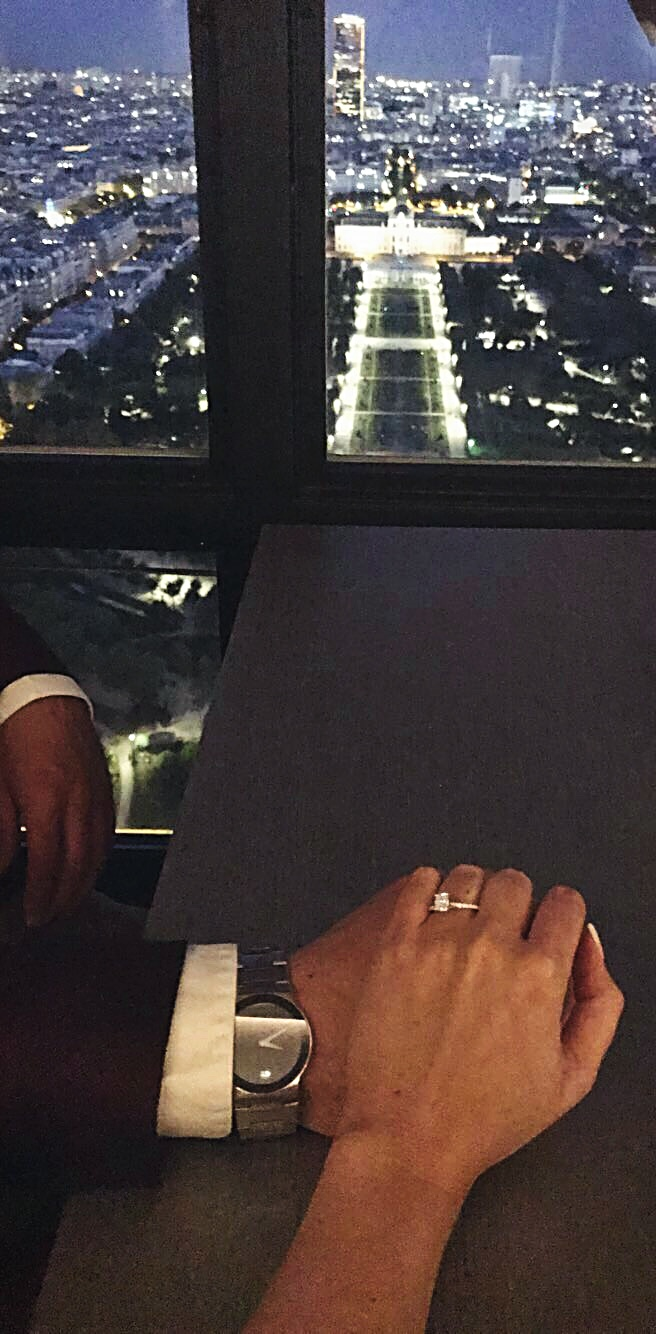 Marriage Proposal Ideas in At the top of the Eiffel Tower in Paris, France
