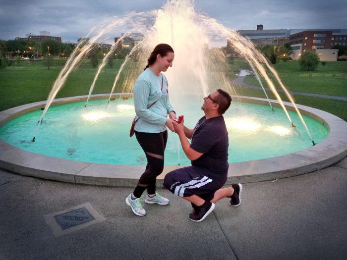 Jessica's Proposal in The Arboretum at Penn State