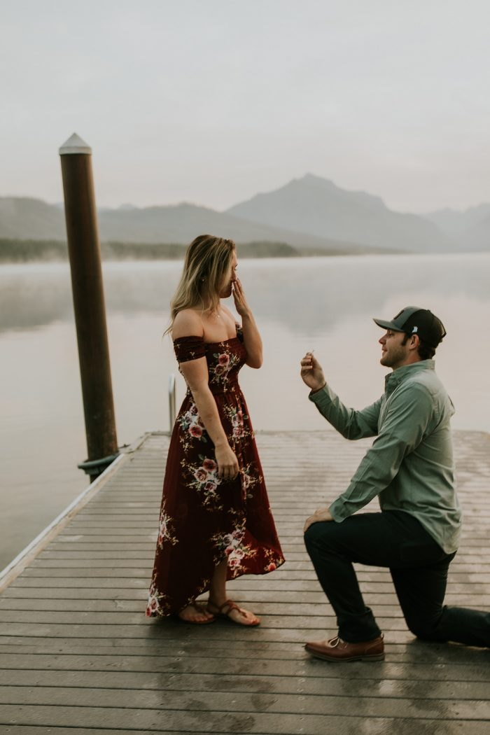 Marriage Proposal Ideas in Glacier National Park