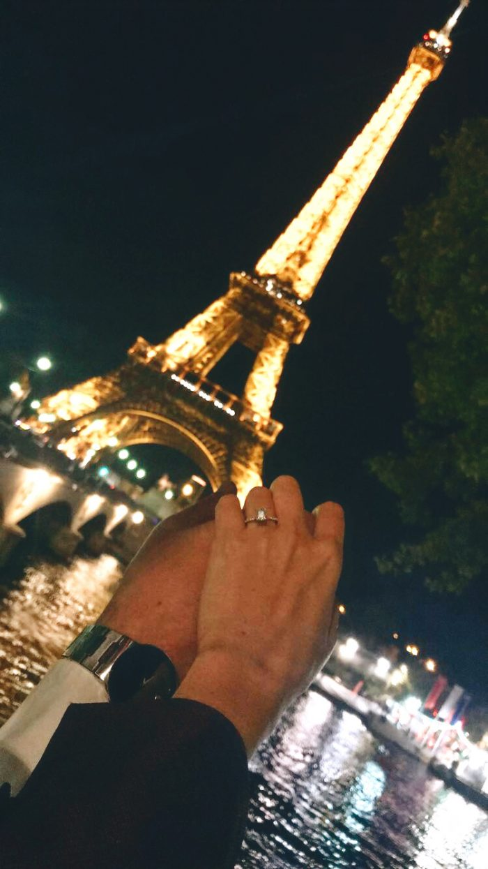 Caroline's Proposal in At the top of the Eiffel Tower in Paris, France