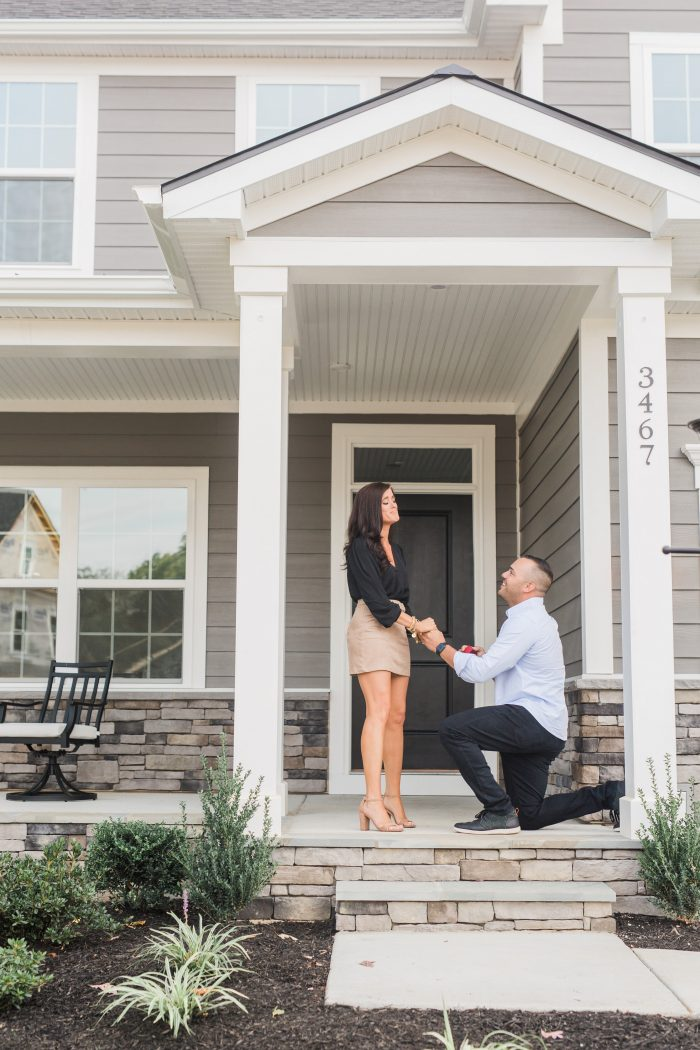 Engagement Proposal Ideas in On the front porch of our new home!