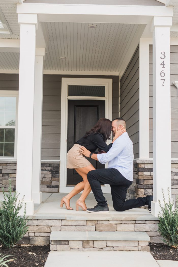 Proposal Ideas On the front porch of our new home!