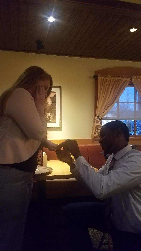 Engagement Proposal Ideas in Olive Garden
