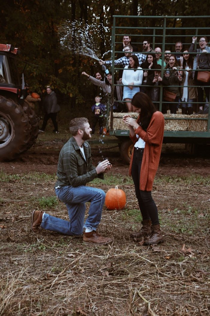 Hannah's Proposal in Penn Vermont Fruit Farm, Bedminster, PA