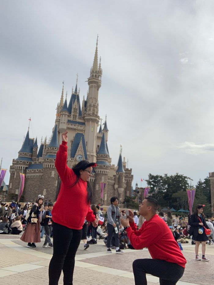 Eveleen and Gustavo's Engagement in Tokyo Disneyland