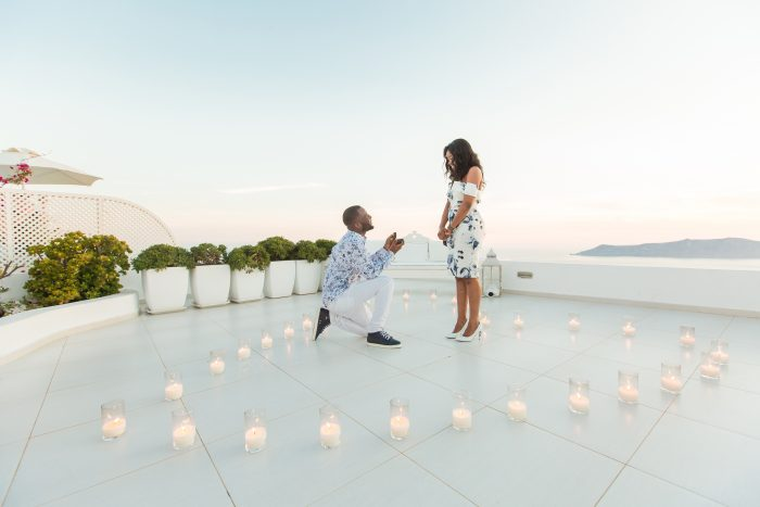 Giovanni and Joia's Engagement in Santorini