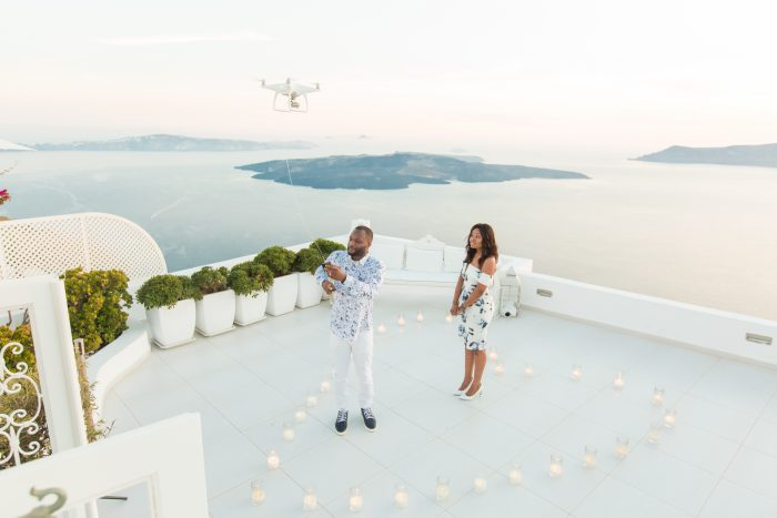Where to Propose in Santorini