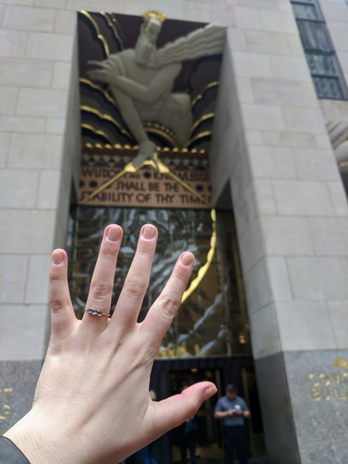 Samantha's Proposal in Rockefeller Plaza, New York City