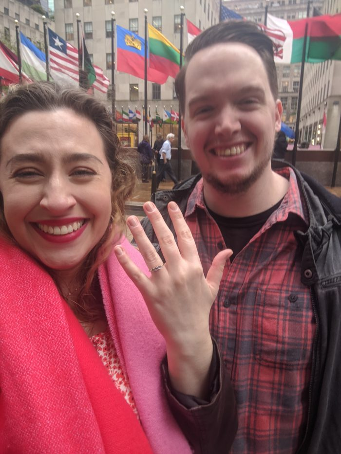 Marriage Proposal Ideas in Rockefeller Plaza, New York City
