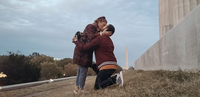 Bryan and Samantha's Engagement in Lincoln Memorial, Washington DC