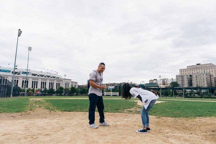 Lauren's Proposal in The original site of Yankee Stadium in the Bronx