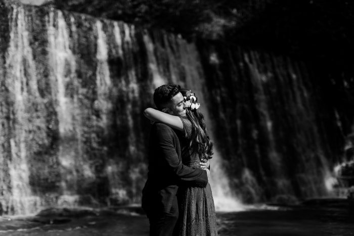 Where to Propose in Roswell Mill Waterfall