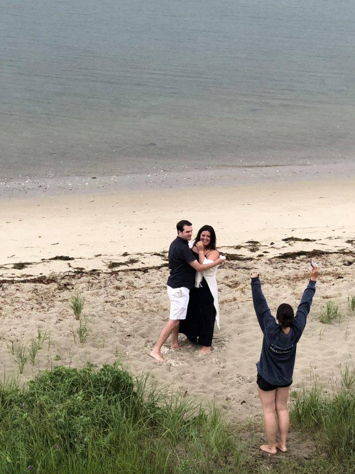 Marriage Proposal Ideas in Outside my parents house on the beach