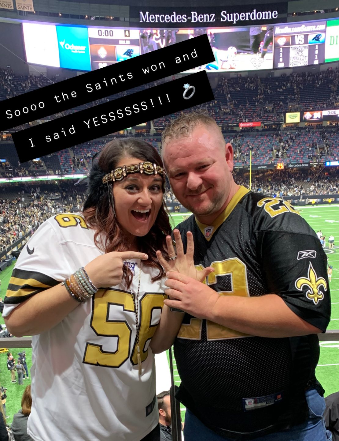 Marriage Proposal Ideas in Mercedes-Benz Super Dome, New Orleans