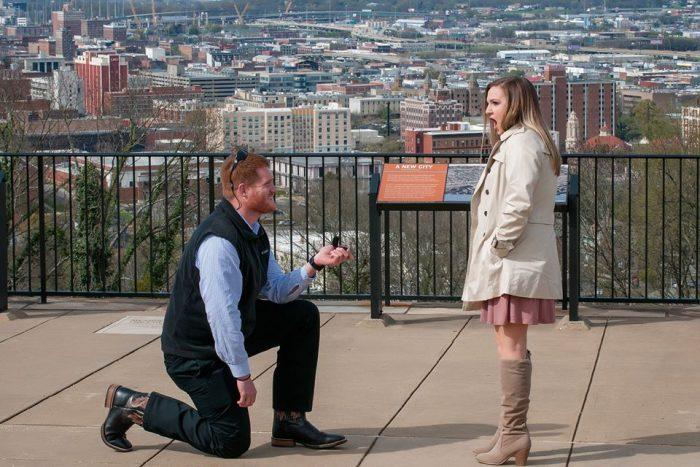 Laura's Proposal in The Vulcan, Birmingham, Alabama