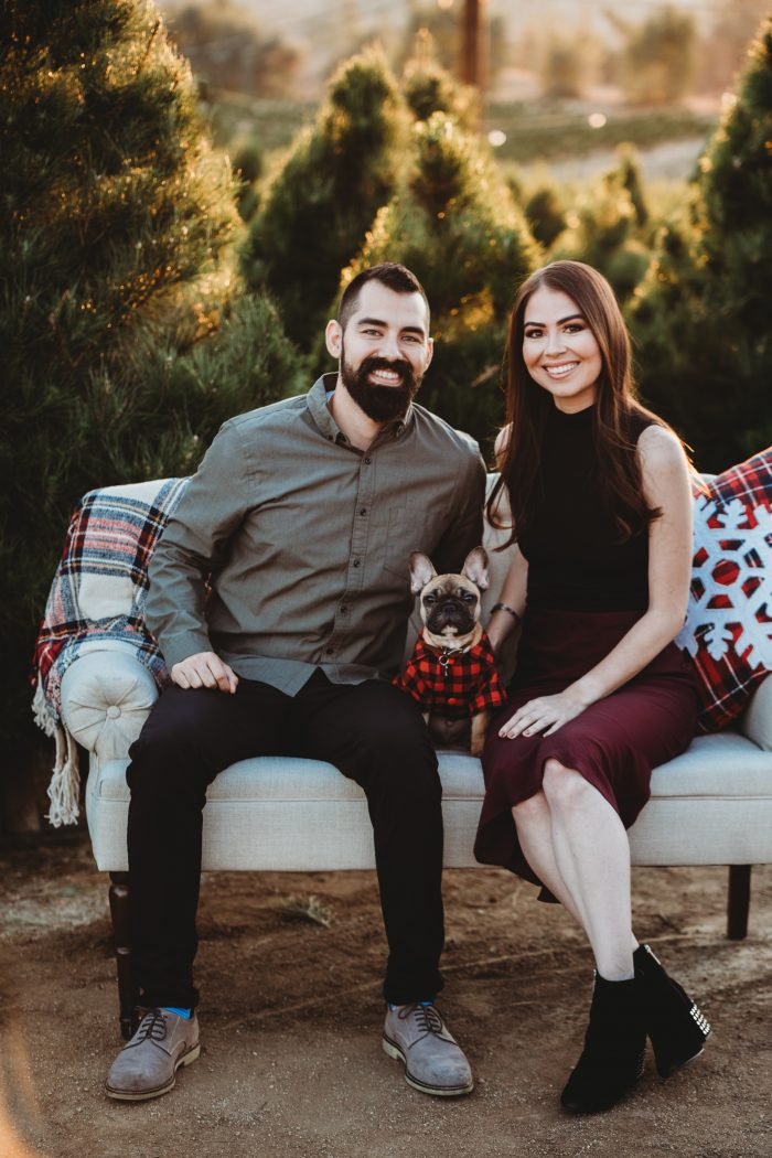 Marriage Proposal Ideas in Sand Haven Christmas Tree Farm in Perris, CA