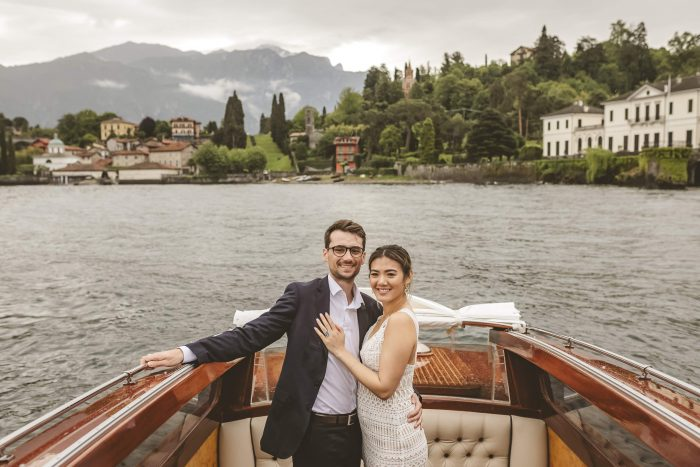 Michelle and Julien's Engagement in Lake Como, Italy