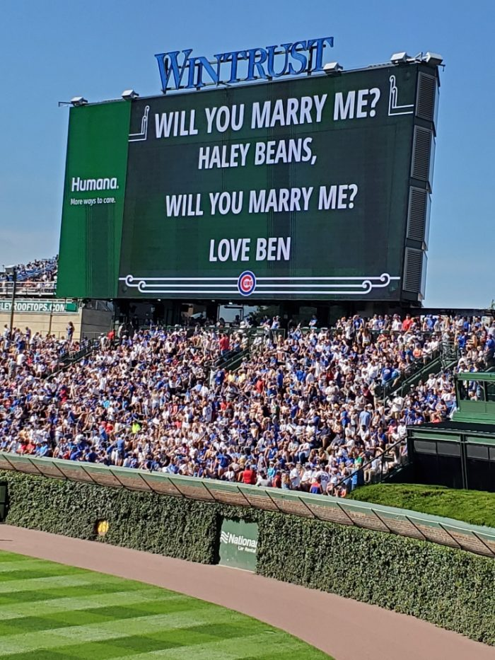 Haley's Proposal in Wrigley Field - Chicago