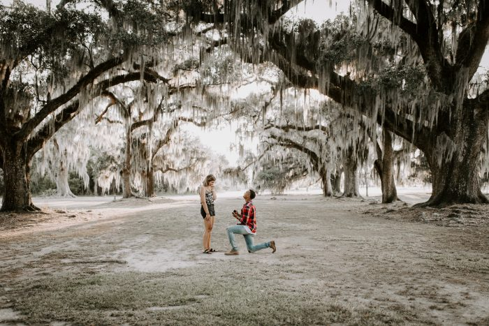 Wedding Proposal Ideas in Fontainebleau State Park in Mandeville, LA