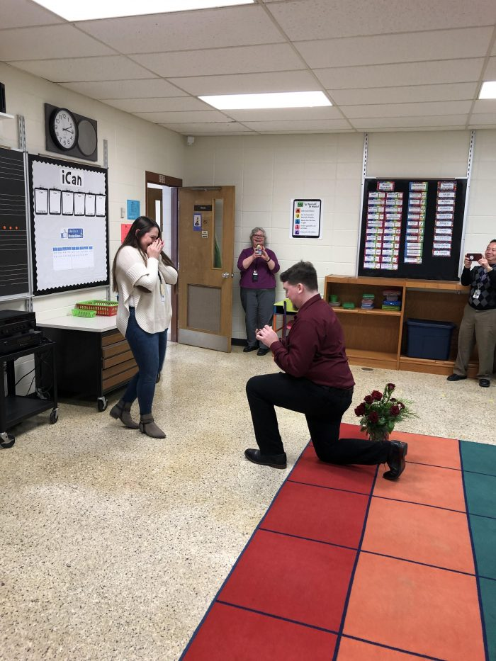 Kaylee and Nick's Engagement in At my school where I teach first grade