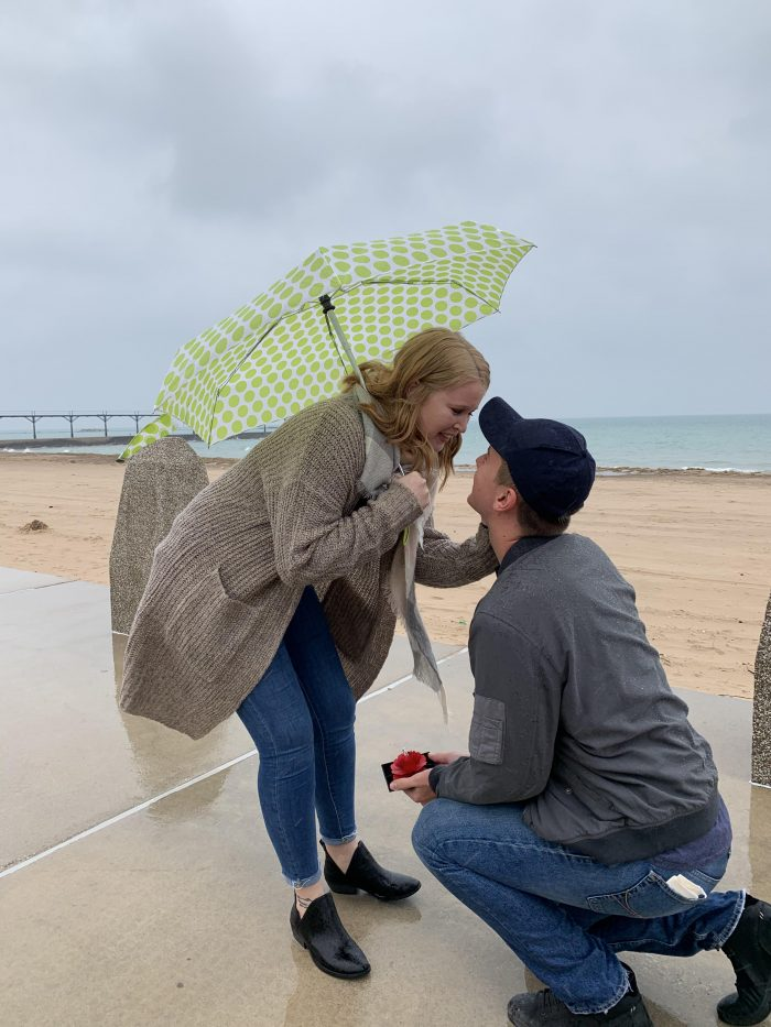 Where to Propose in Michigan City, Indiana at Washington Park Beach