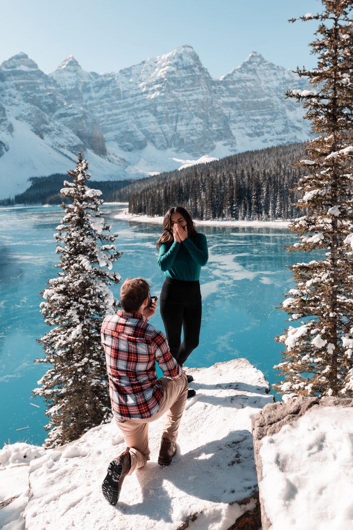 Where to Propose in Moraine Lake, Canada