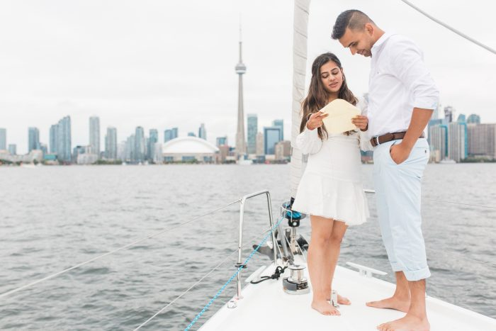 Marriage Proposal Ideas in Lake Ontario, Toronto