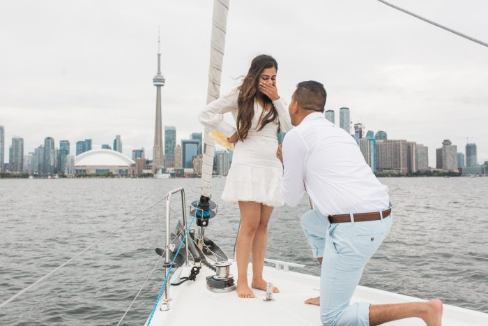 Ritika and Chirag's Engagement in Lake Ontario, Toronto