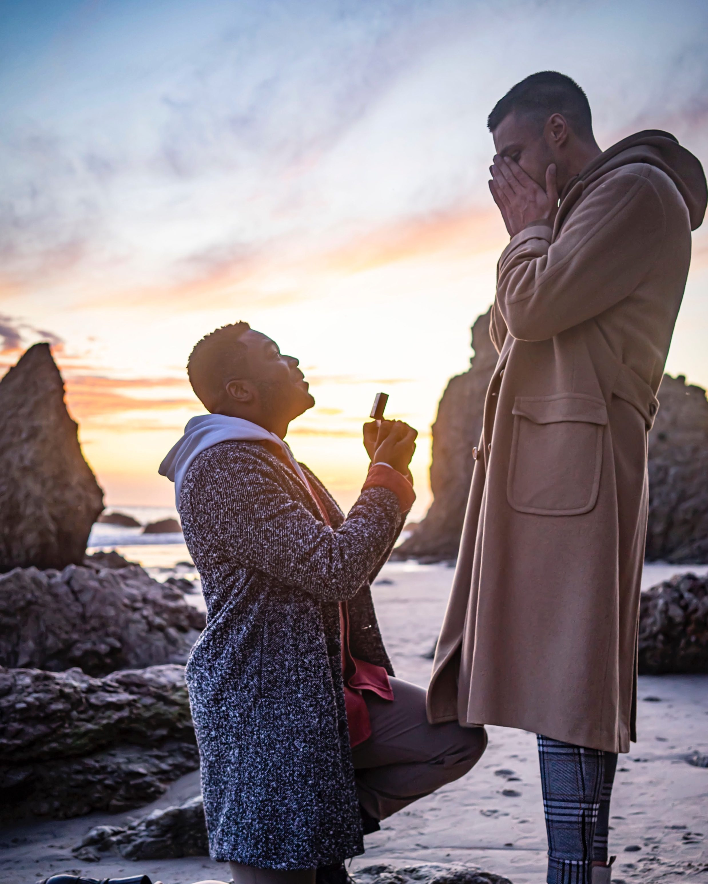 Wedding Proposal Ideas in El Matador Beach in Malibu