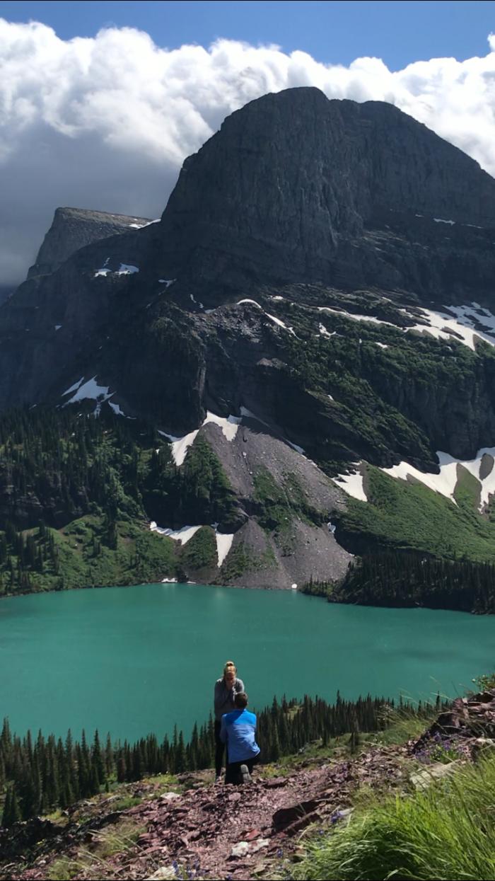 Joanna's Proposal in Glacier National Park
