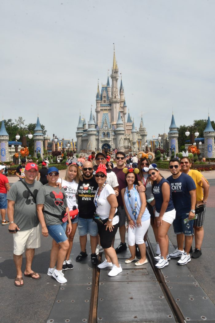 Marriage Proposal Ideas in At Walt Disney World in Magic Kingdom in front of Cinderella's Castle